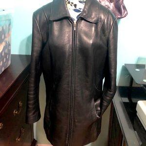 Danier Black Leather coat